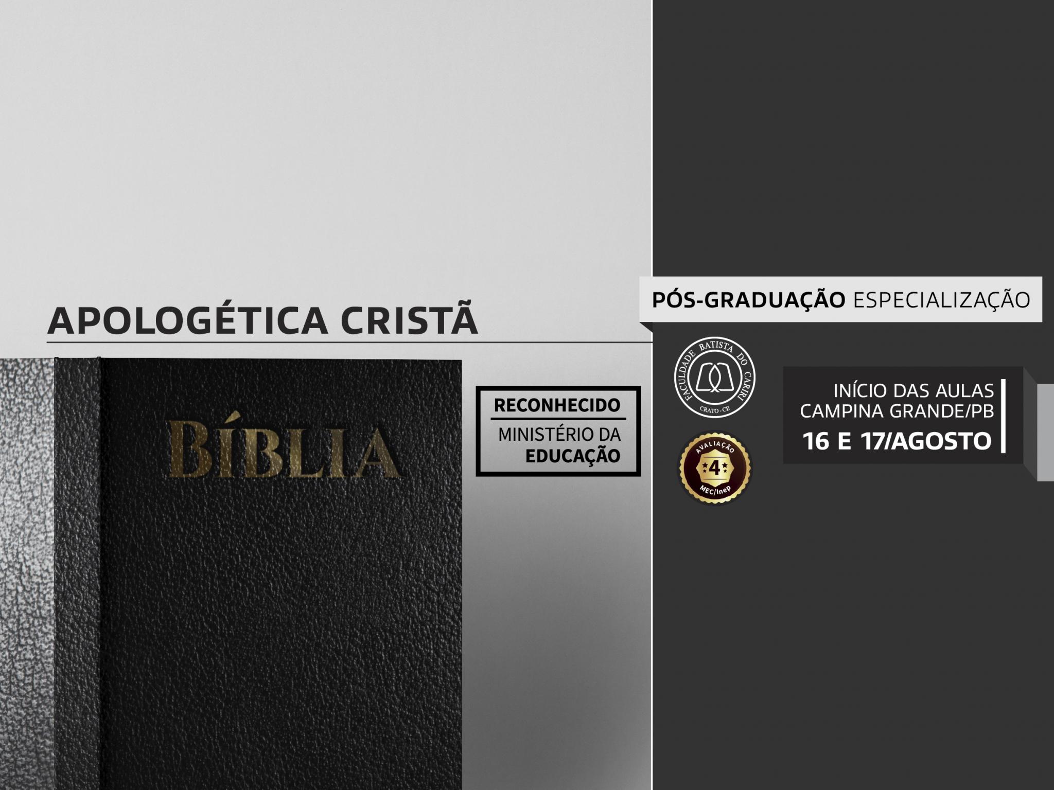 apologética cristã pós graduação campina grande